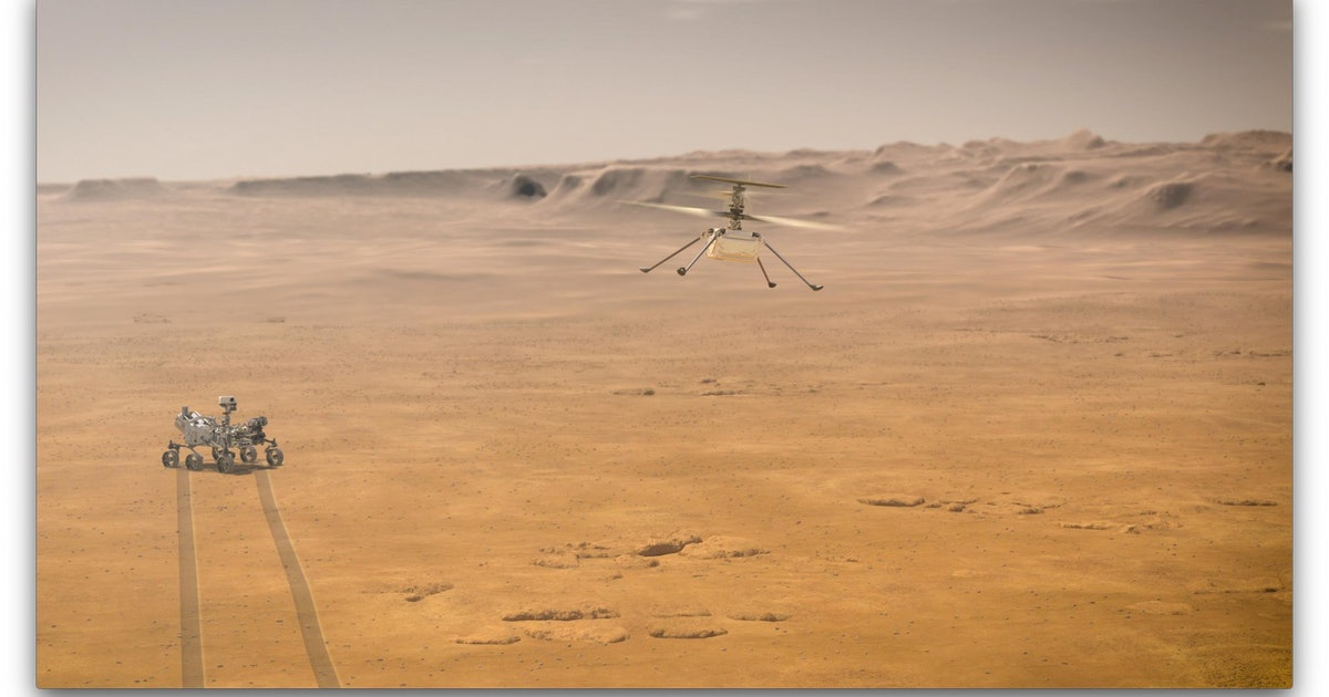 There's now a helicopter on Mars