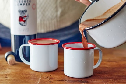 This alcoholic hot cocoa adds red wine to your favorite hot chocolate recipe