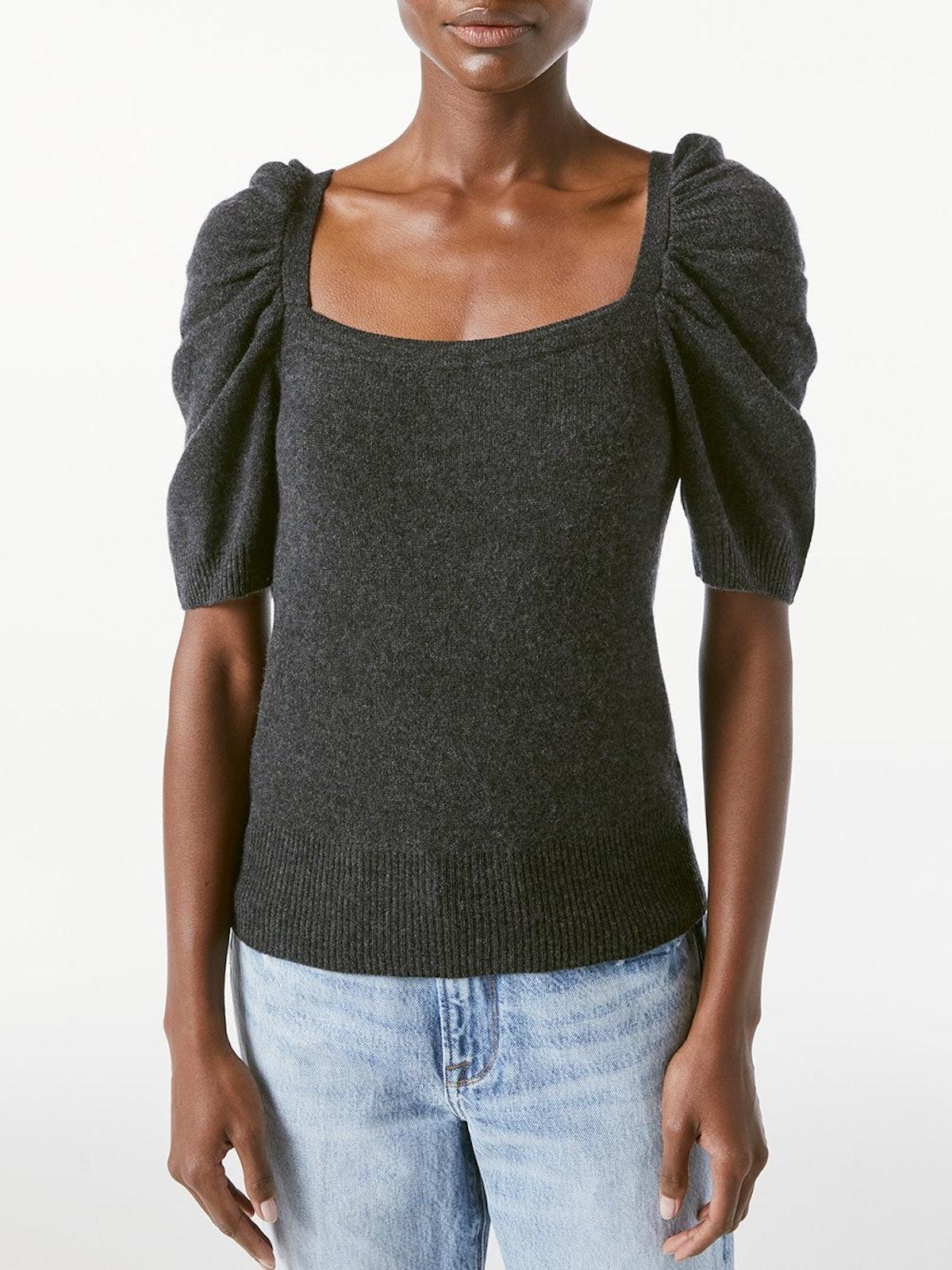 Femme Square Neck Short Sleeve