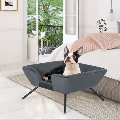 Homebeez Modern Soft Pet Bed with Metal Legs