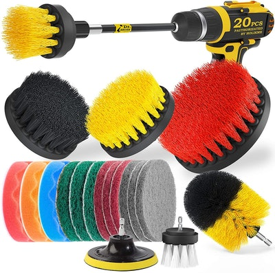 Holikme Drill Brush Scrubber with Attachments (20 Pieces)