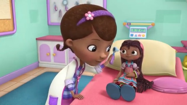 'Doc McStuffins' is about a little girl who takes care of toys.