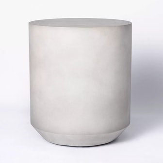 Faux Stone Patio Accent Table
