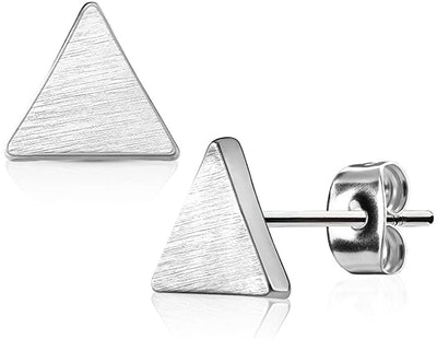 Forbidden Body Jewelry Geo-Shaped Surgical Steel Stud Earrings