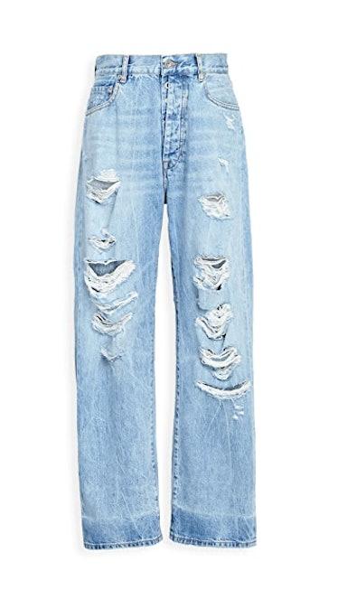Distressed Baggy Boyfriend Jeans