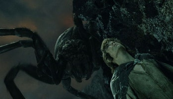 Shelob stalking Frodo in Lord of the Rings: Return of the King