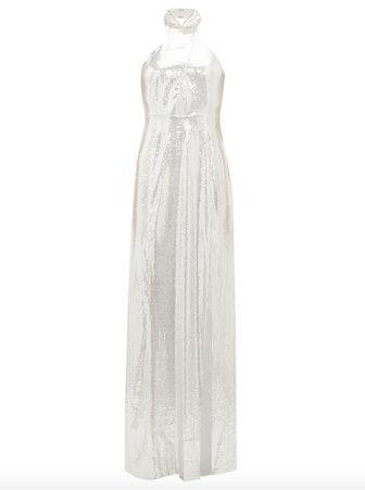 Galaxy Sequinned Halterneck Dress