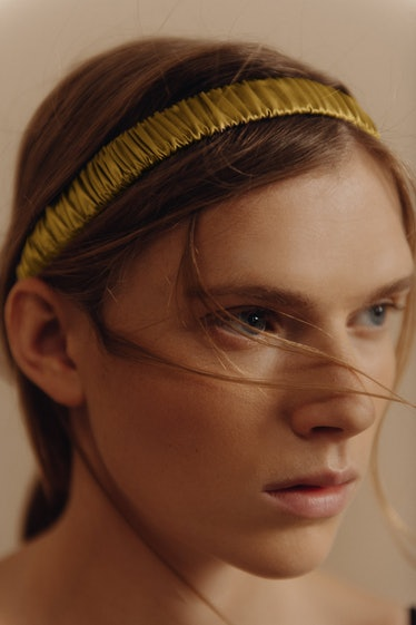Satin Effect Ruched Headband