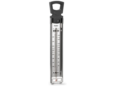 Polder Thermometer Stainless Steel with Pot Clip