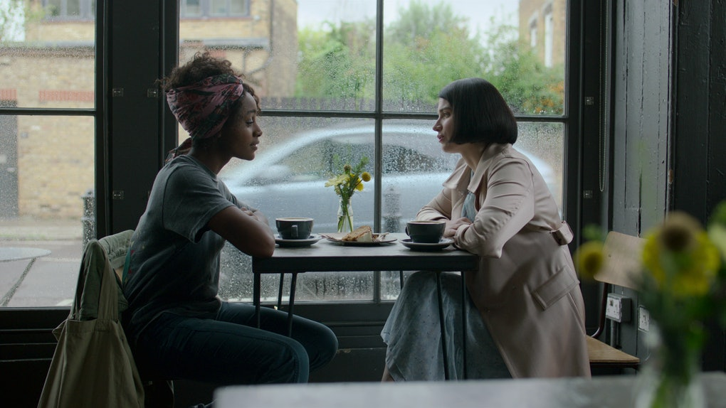 Simona Brown and Eve Hewson in Behind Her Eyes.