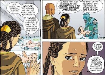 Mandalorian theory season 3 jedi flashback comics Baby Yoda