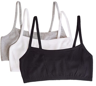 Fruit of the Loom Cotton Sports Bras (3-Pack)