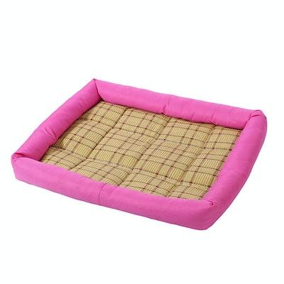 Heat Resistant Pad Bamboo Carpet Summer Sleeping Bed