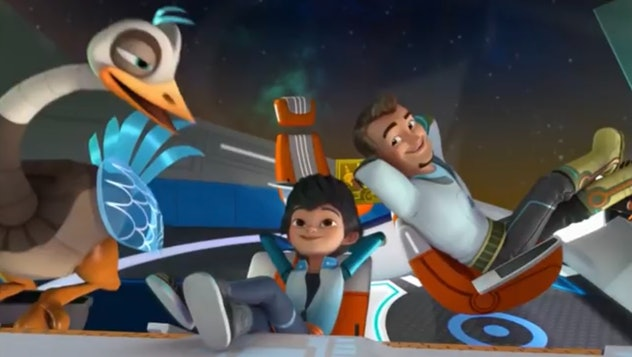 'Miles from Tomorrowland' is about a young boy who explores space.