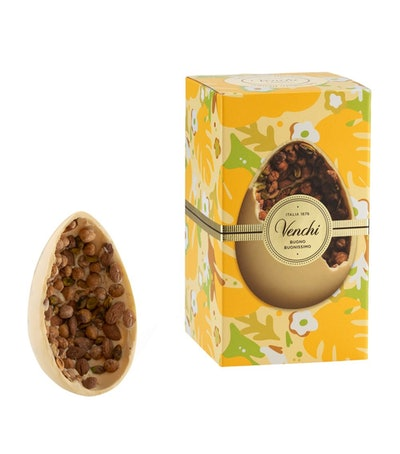 White Chocolate Gourmet Egg with Salted Nuts