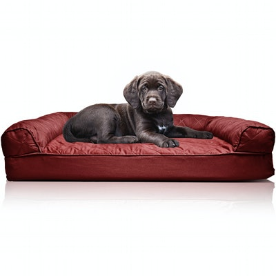 Orthopedic Quilted Sofa-Style Couch Pet Bed for Dogs & Cats