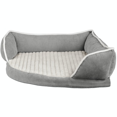 Triangle Corner Lounger with Self Warming Cozy Inner Cushion