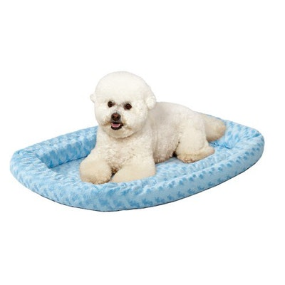 QuietTime Double Bolster Dog Bed & Crate Mat