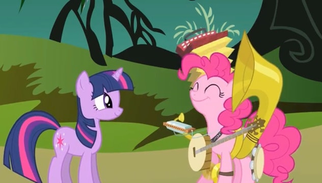 'My Little Pony Friendship Is Magic' is about magical pony friends.