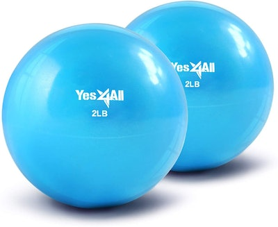 Yes4All Weighted Medicine Ball (2-Pack)