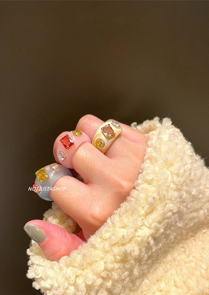 NotJustAShopStudio Colorful CZ Ring