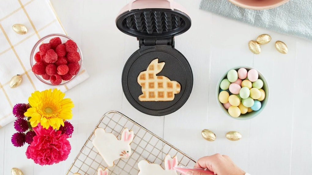 This Bunny Mini Waffle Maker From Dash Comes In The Prettiest Pastel Colors