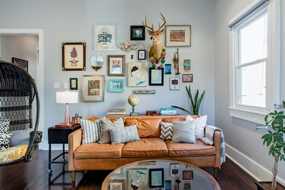 wall art living room artistic airbnbs