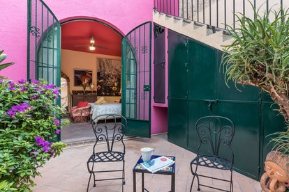 pink patio tropical artistic airbnbs
