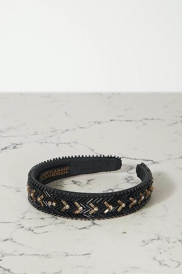 Del Sol Embellished Cotton-Blend Headband