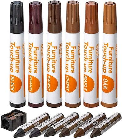 Katzco Wood Markers Furniture Repair Kit (Set of 13)
