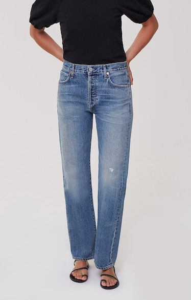 Emery Long Mid-Rise Relaxed Straight Jeans