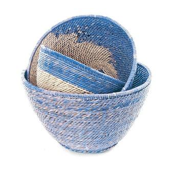 Blue Nesting Basket Set