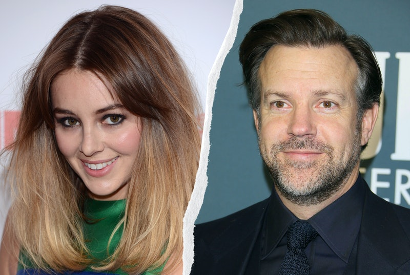 Jason Sudeikis and Keeley Hazell. Photos via Getty Images