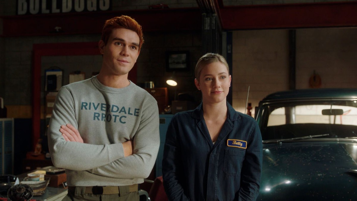 KJ Apa as Archie Andrews and Lili Reinhart as Betty Cooper in Riverdale Season 5.