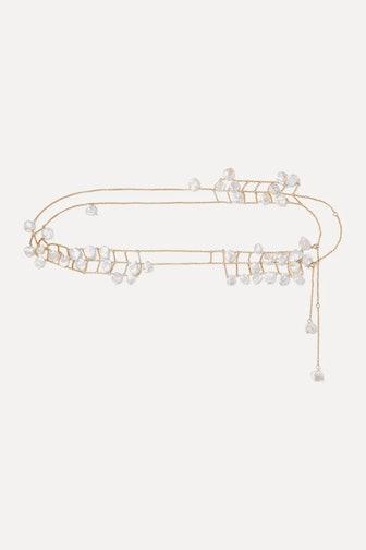 Castaway Gold-Plated Pearl Belt