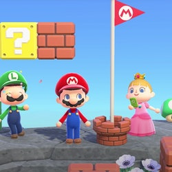 super mario characters in animal crossing new horizons