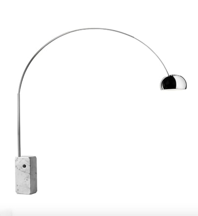 Arco Floor Lamp - LED or Incandescent Dimmable with Marble Base