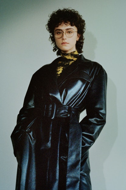Ella Emhoff in look 8 for Proenza Schouler's Fall/Winter 2021 collection.