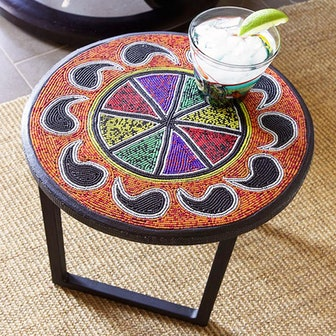 Beaded Side Table