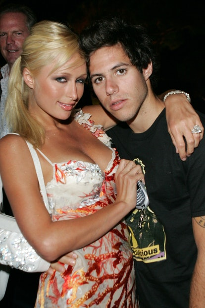 """Paris Hilton and Paris Latsis at the One Year Anniversary Party Hosted by Jeffrey Steiner, Chairman and CEO of Fairchild Corp. and Erik Wachtmeister, CEO of """"aSmallWorld.net."""""""