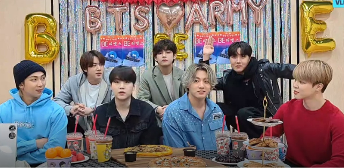 BTS' Feb. 19 VLIVE had fans asking if RM spoiled BTS' next release.