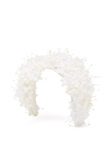 Shine Floral-Appliqué Headband
