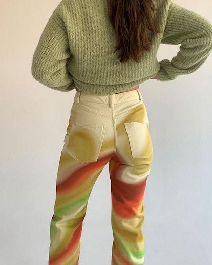Colorful swirl pants