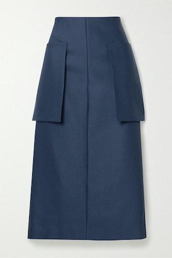 Jenna Wool-Blend Midi Skirt