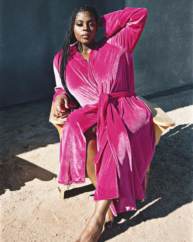 Zelie for She velvet outfit.