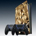 Gold-covered plates by the Caviar brand for PlayStation 5.