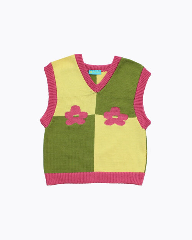 Ella Emhoff – Flower Boob Sweater Vest