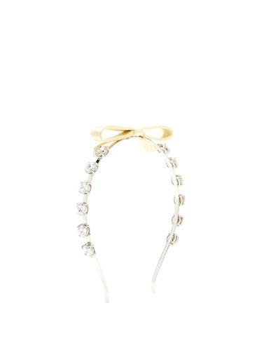 Bow-Embellished Crystal Headband