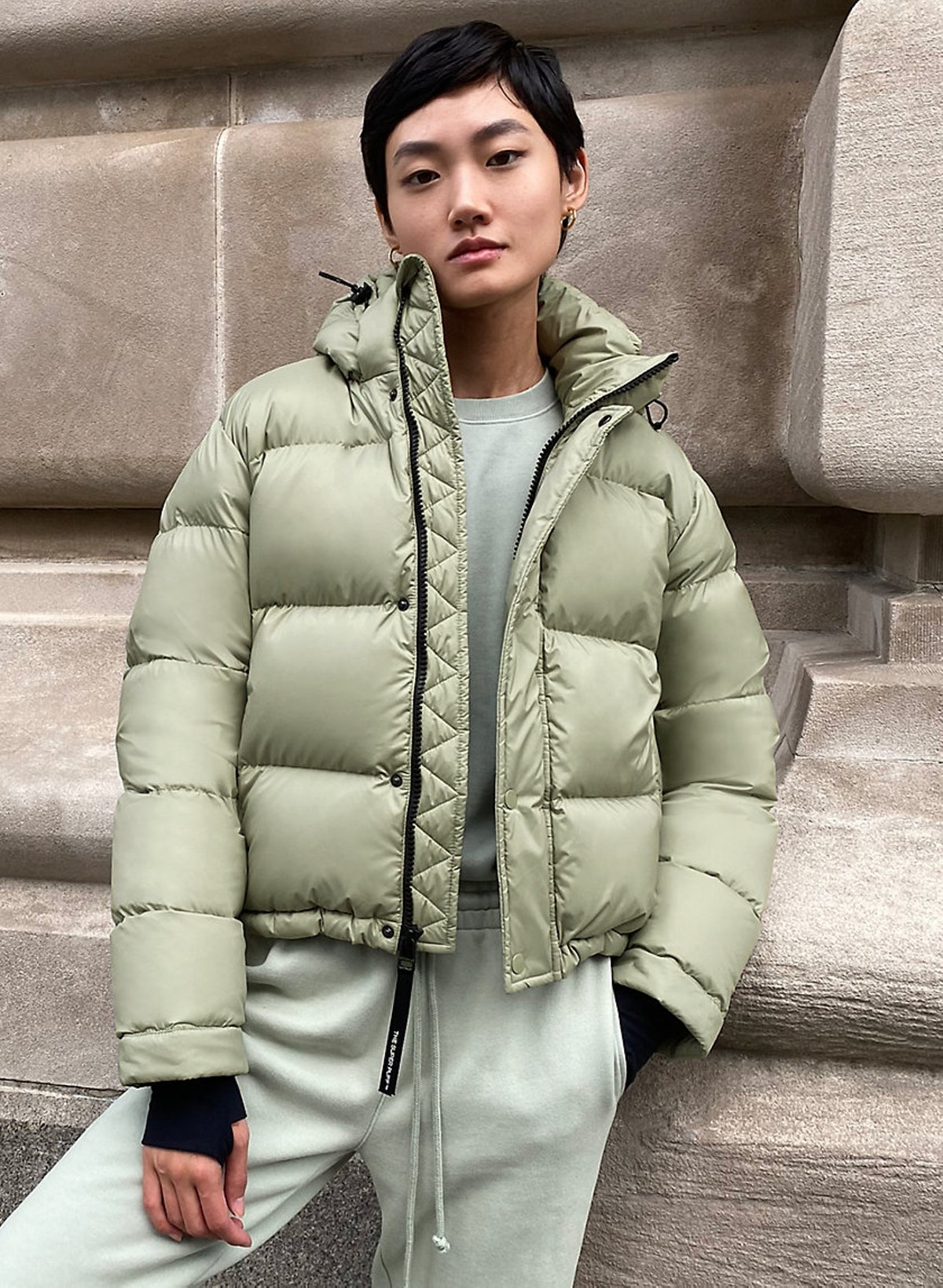 Tna The Super Puff™ Shorty — Soft Shine, Light Khaki Green