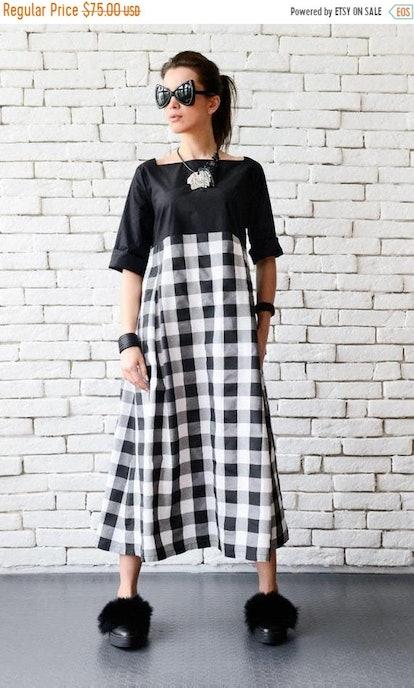Metamorphoza Black and White Maxi Dress